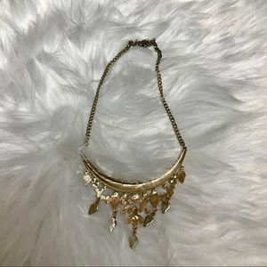 Francesca's Collections Jewelry - Francesca's gold black statement necklace